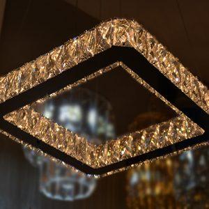 Pendente de Cristal Transparente 2Tons